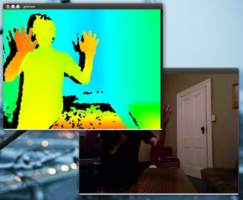 GTK+ viewer for Microsoft Kinect